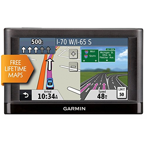 "Garmin Nuvi 55LM 5"" Touchscreen Car Sat Navigation GPS w/Lifetime Maps 0119-801 (Certified Refurbished)"