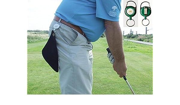 Mini retráctil toalla de Golf, para que cualquier lugar. Negro, Green Reel, 20 x 20 cm: Amazon.es: Deportes y aire libre