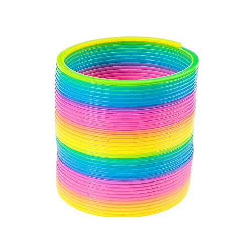6'' Jumbo Rainbow Coil Spring (With Sticky Notes) by Bargain World (Image #4)