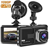 "Dash Cam with Full HD 1080P 170 Degree Super Wide Angle Cameras, 3.0"" TFT Display, G-Sensor, Night Vision, WDR, Loop Recording"