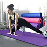 Buybox Gym & Yoga Mat With Carry Bag - Multi Color (6mm)