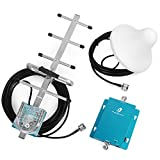 Phonetone 62dB CDMA 850MHz GSM 3G Cell Phone Repeater Complete Kit Signal Booster with Indoor Ceiling Antenna and Outdoor GSM Yagi Antenna for Home/Office Use