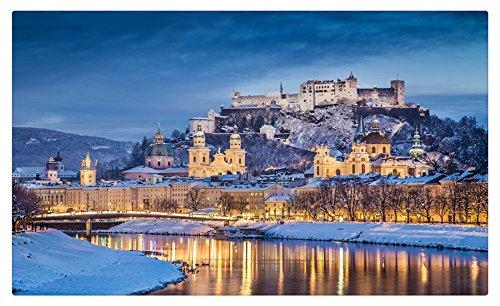 Austria casas castillos ríos invierno cielo noche Salzburgo ...