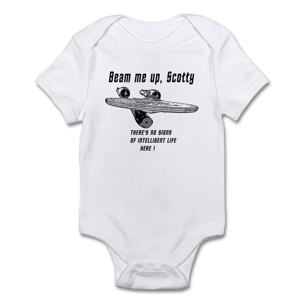 CafePress - Beam Me Up Scotty Theres No Signs Of Intelleigent - Cute Infant Bodysuit Baby Romper