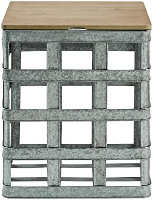 Powell Galvanized Side Table, Multicolor