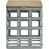 Powell D1036A16 Galvanized Side Table
