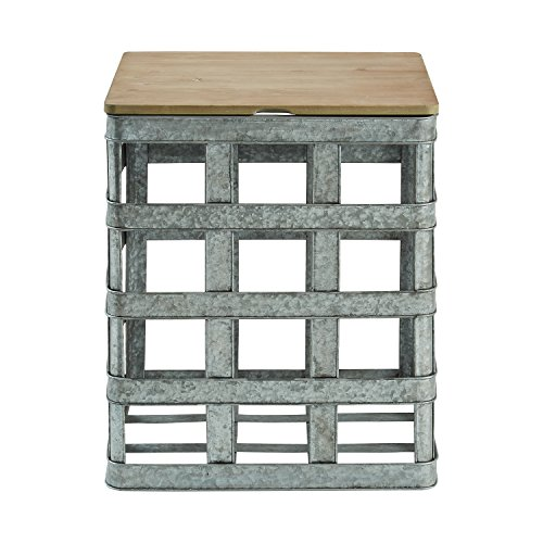 (Powell D1036A16 Galvanized Side Table, Multicolor)