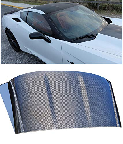 OEM Factory Style Carbon Fiber Removable Top Roof Panel Cover Replacement for 2014-2018 Chevrolet Corvette C7 2Dr Coupe Targa (2dr Ground)