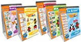NewPath Learning 5 Piece English Language Readiness Flip Chart Set, Early Childhood