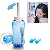 Aochol Nasal Wash Bottle - Nasal Wash System Nose Cleaning Pot Sinus Rinse Bottle for Adult Children Cleanser Allergic Rhinitis Treatment (300ml)