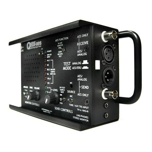 Whirlwind Qbox-AES Analog Signal Tester
