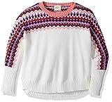 Crazy 8 Little Girls' Long Sleeve Sweater Fair Isle, Cream Fair Isle, M