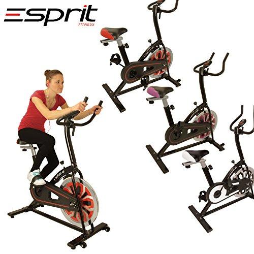 Esprit MOTIV-8 Exercise Spin Bike Fitness Cardio Weight Loss Machine (Purple)