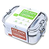 Ecozoi LEAK PROOF Stainless Steel 3-in-1 Eco Lunch Box Bento Boxes |...