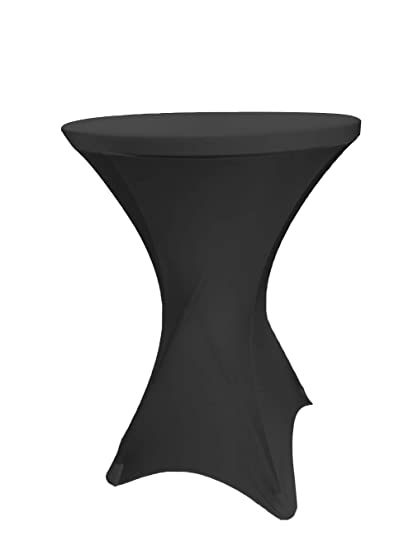 Amazoncom Event Linens Black Spandex Cocktail Table Cover Fitted
