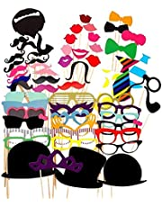 58PCS Photo Booth Props Party Favor for Wedding Party Graduation Birthdays