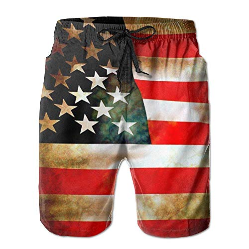 Doormat bags Vintage American Flags Men's Swim Trunk XX-Larg