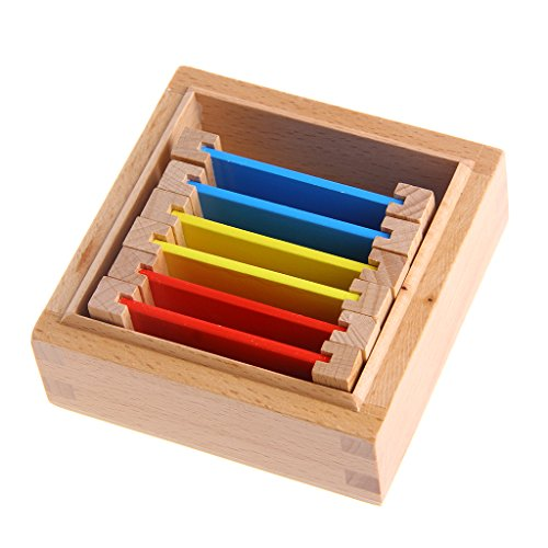 Sixinu Montessori Sensorial Material Learning Color Tablet Box 1/2/3 Wood Preschool Toy