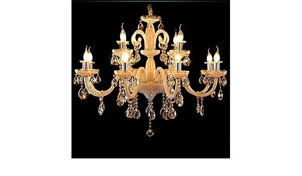 Rs Candelabros cristal ámbar Color lujo moderno estilo ...