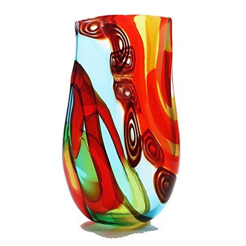 ムラーノガラス花瓶 「Rainbow V43 」 イタリア製 フラワーベース ベネチアングラス 花器 高級品 B071LQ9THH