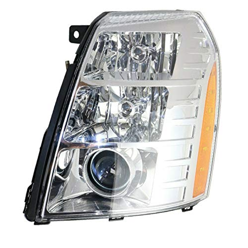 Koolzap For 07-14 Escalade Front Headlight Headlamp Xenon Head Light Lamp w/Bulb Driver Side