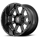 XD Series by KMC Wheels XD825 Buck 25 Gloss Black Wheel with Milled Accents (20x12''/5x139.70mm, -44 offset)