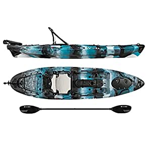 Vibe Kayaks Sea Ghost 110 | 11ft Angler - Single Person, Sit On Top Fishing Kayak w/ Paddle, Rubber System & Dual Position Hero Seat