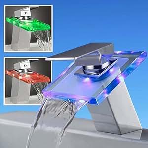Grifo moderno grifo cascada grifo de cristal grifo led for Grifos modernos