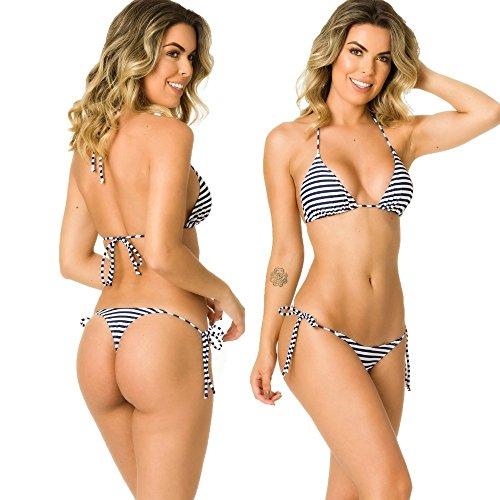 Marina Triangle Top (THE MESH KING COQUETA Swimwear Women Brazilian Sexy Bikini Bottom Thong Triangle Top Set Marine)