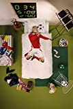 Full/Queen Size Red Soccer Champ Duvet Cover, by SNURK