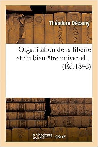Livres gratuits Organisation de la liberté et du bien-être universel... pdf