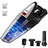 HoLife Handheld Vacuum, 8KPA Cordless Hand Vacuum Cleaner Rechargeable Hand Vac, 100W Stronger Motor Rechargeable Lightweight Wet Dry Vacuum for Home Pet Hair Car Cleaning