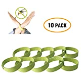 Pack of 10 All Natural Mosquito Insect Repellent Bracelet for Kids, Toddler & Adults - Non Toxic Travel Size Mosquito Bug Repellent Wristband