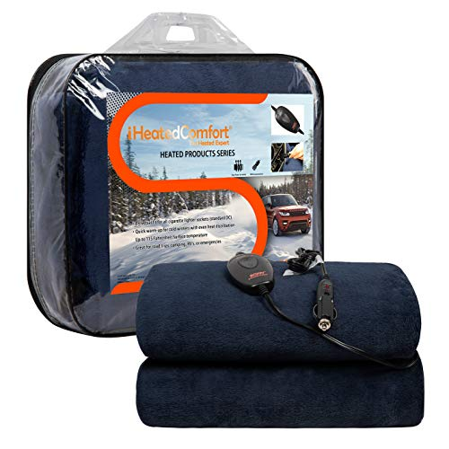 Sojoy iHealthComfort 12V Electric Heated Travel Blanket with