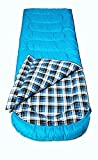 MDAIRC Sleeping Bag with pillow [75x30inch] – Comfort Temperature Range 40-60F waterproof for Camping and Sleepovers (blue)