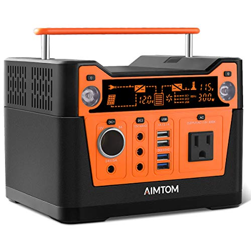 AIMTOM Portable Solar GeneratorEmergency Power Supply Lithium Power Station for Travel Camping RV Indoor Outdoor CPAP Machine