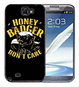 Samsung Galaxy Note 2 Black Rubber Silicone Case - Honey Badger Dont Give a Shit 2