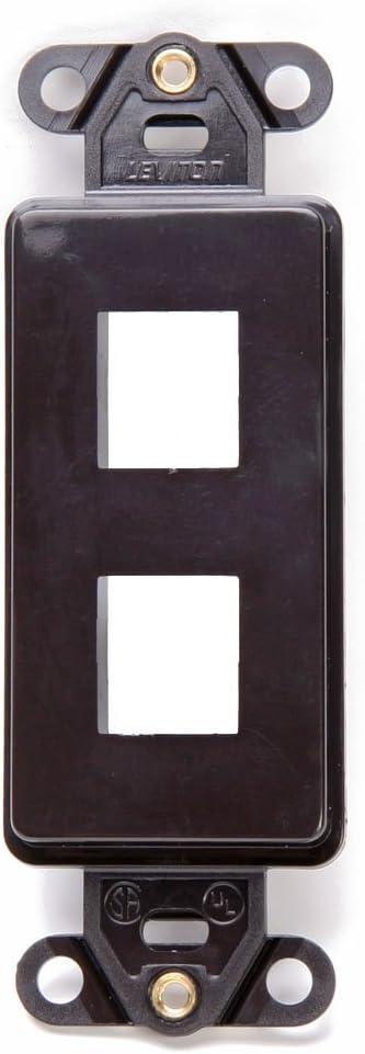 Leviton 41642-B QuickPort Decora Insert, 2-Port, Brown