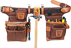 Occidental Leather 9855 Adjust-to-Fit Fat Lip Tool Bag Set - Cafe
