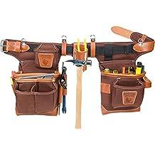 Occidental Leather 9855 Adjust-to-Fit Fat Lip Tool Bag Set, Cafe