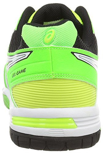 ASICS Gel-Game 5 - Zapatillas de tenis para hombre Amarillo (Flash Yellow/White/Flash Green 0701)