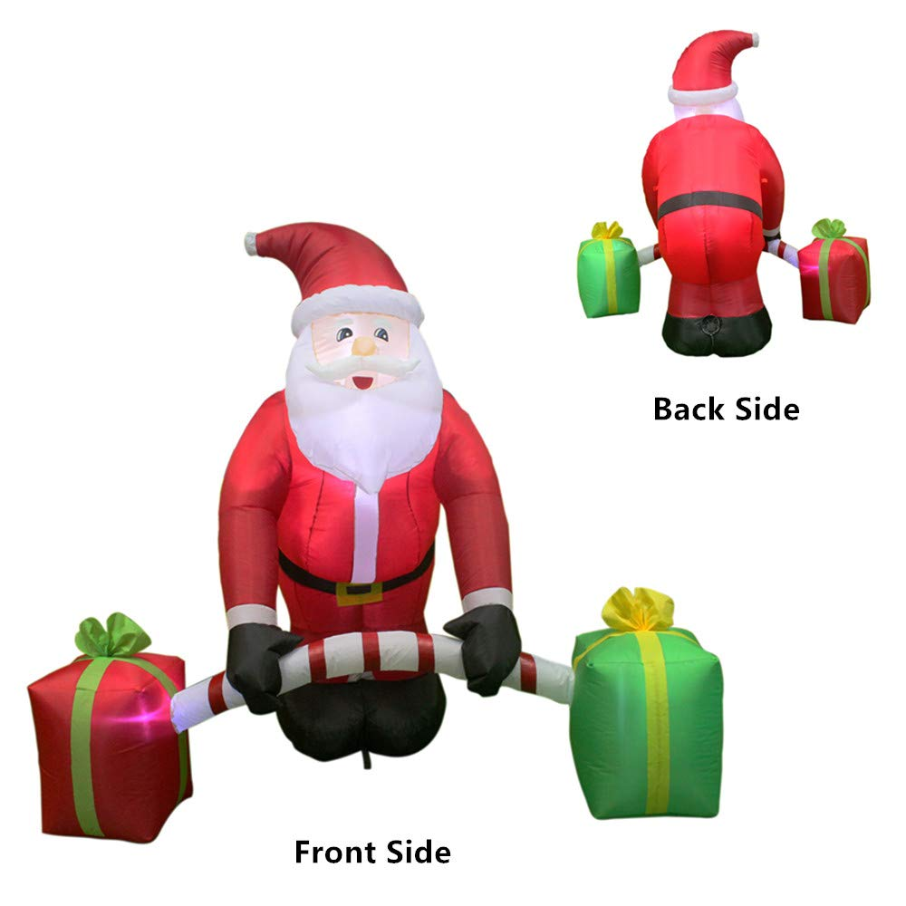 Amazon.com: ANOTHERME 5.5 Feet Inflatable Christmas Santa Claus with ...