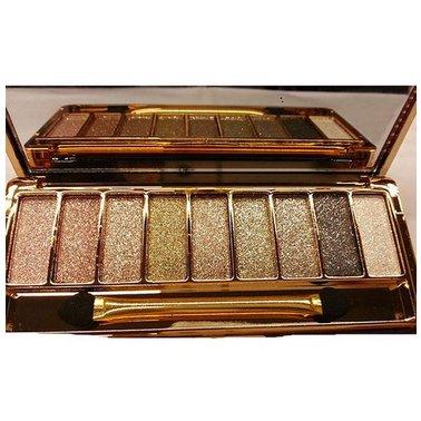 SODIAL(R)Women 9 Colors Waterproof Makeup Eyeshadow Palette with Brush 6#