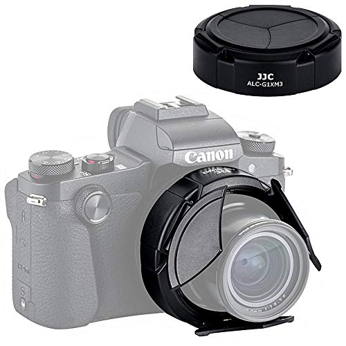 JJC Dedicated Auto Open & Close Lens Cap Lens Protector for Canon PowerShot G1X Mark III / G1X M3 Digital Camera, No Vignetting & Compatible with Filter on