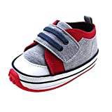 Kuner Baby Boys and Girls Cotton Rubber Sloe Outdoor Sneaker First Walkers Shoes (13.5cm(12-18months), Gray)
