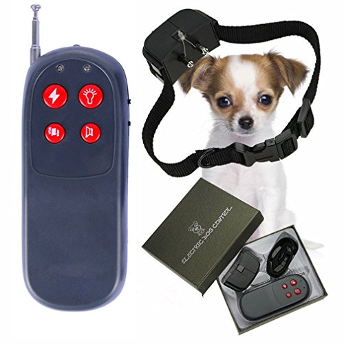 4 in 1 Pets Training Aids Dog Bark Collar, Shock Vibrate Electronic Collar Anti Barking Trainer for Small medium dogs and cats