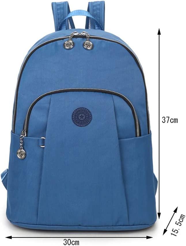 Color : Blue, Size : 3015.537cm HLJ European and American Fashion Travel Backpack Casual Personality Waterproof Backpack Simple Student Backpack