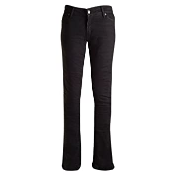 Bull-It Ladies Ebony SR6 Motorcycle Jeans Pants Black Short 29//W22