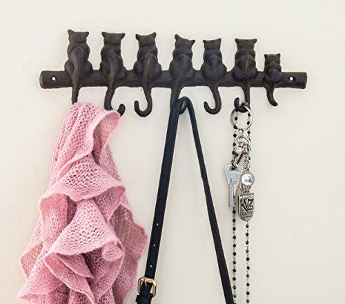 Comfify 7 Cats Cast Iron Wall Hanger - Decorative Cast Iron