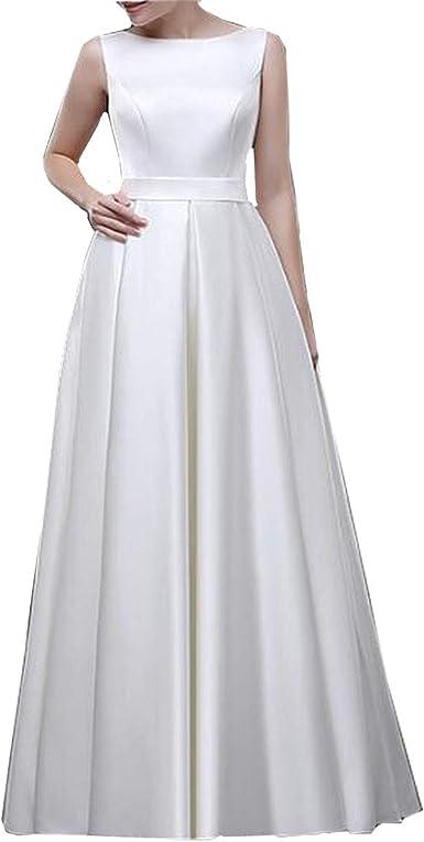 Viktion Robes de mariée Satin sur Mesure